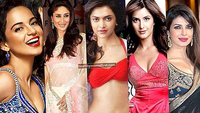 50 Aktris Tertinggi di Bollywood